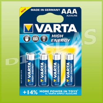 Varta AAA Micro High Energy 1,5 Volt LR3 4903 4er Blister 4x 4 Stk