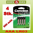 4 Stk Camelion Super Heavy Duty AAA Micro R03 im 4er Blister 4x