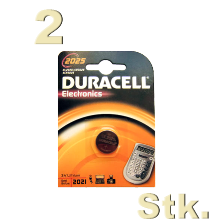 2 stk duracell cr 2025 knopfzelle 3 volt lithium im 1er blister 2x ebay. Black Bedroom Furniture Sets. Home Design Ideas