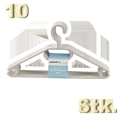 10 kleiderb gel aus kunststoff wei mit krawattenhalter und antirutschrillen 10x diesdas. Black Bedroom Furniture Sets. Home Design Ideas