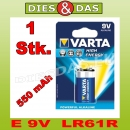 1 Stk Varta HIGH ENERGY 9V Block E 6LR61 MN1604 1x