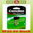 Camelion Super Heavy Duty 6F22 Block 9V 1er Blister